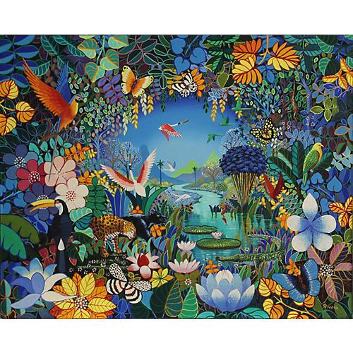 Tropical Scene by Luis Rivera