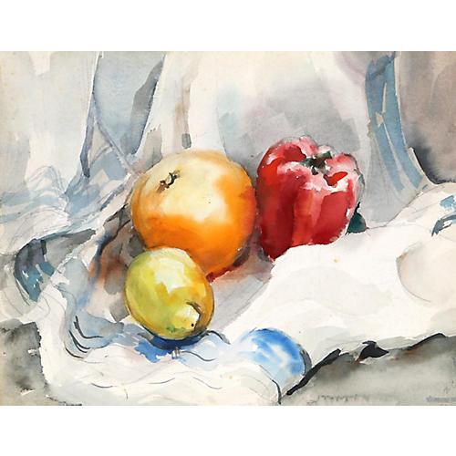 Fruit Still Life by Eve Nethercott
