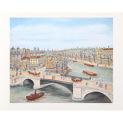 Bridge over the Seine by Claude Tabet