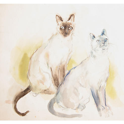 Two Siamese Cats by Marshall Goodman