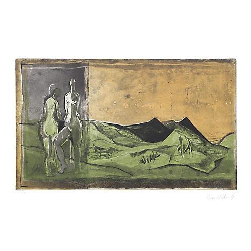 Nudes in Landscape by Karl Brandstatter