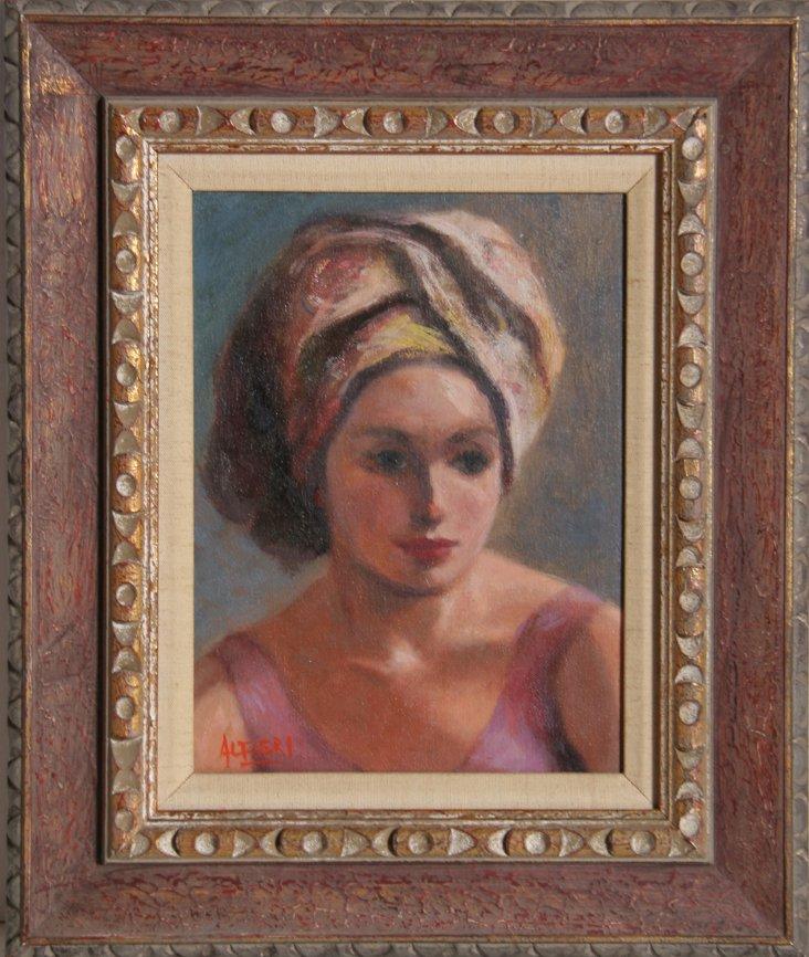 Woman in Pink by Alfieri