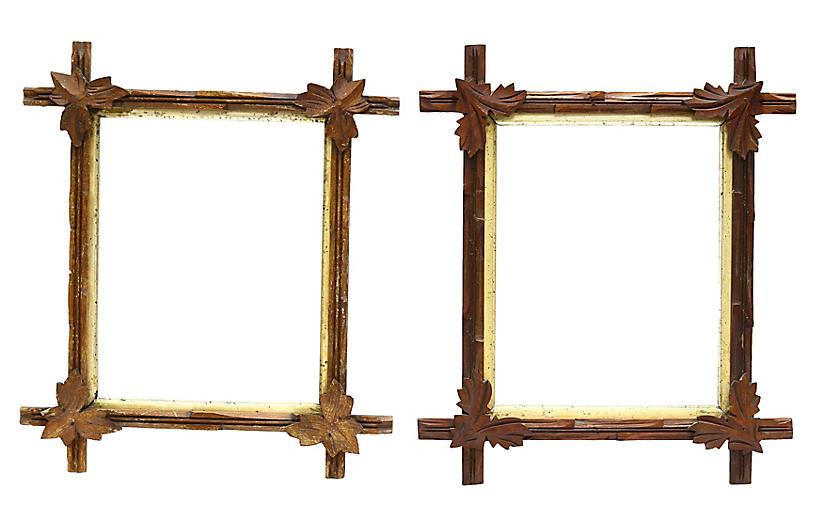 Antique Black Forest Frames, Pair