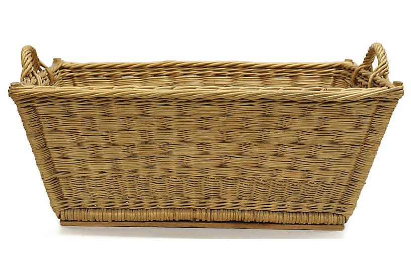 Antique French Laundry Basket
