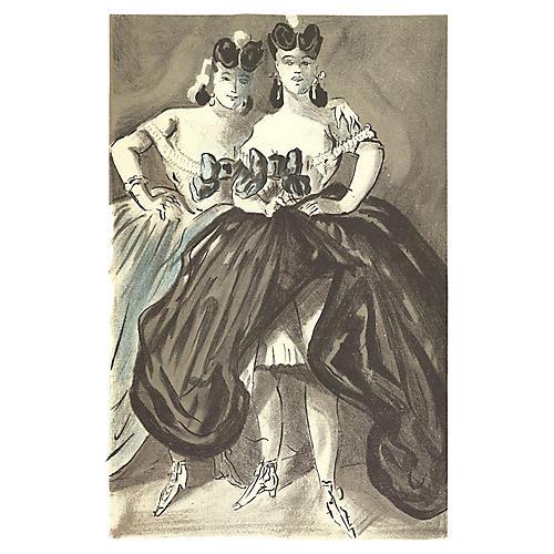 Two Women by Lena Leclercq, 1939