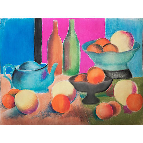Still Life With Oranges and Bottles
