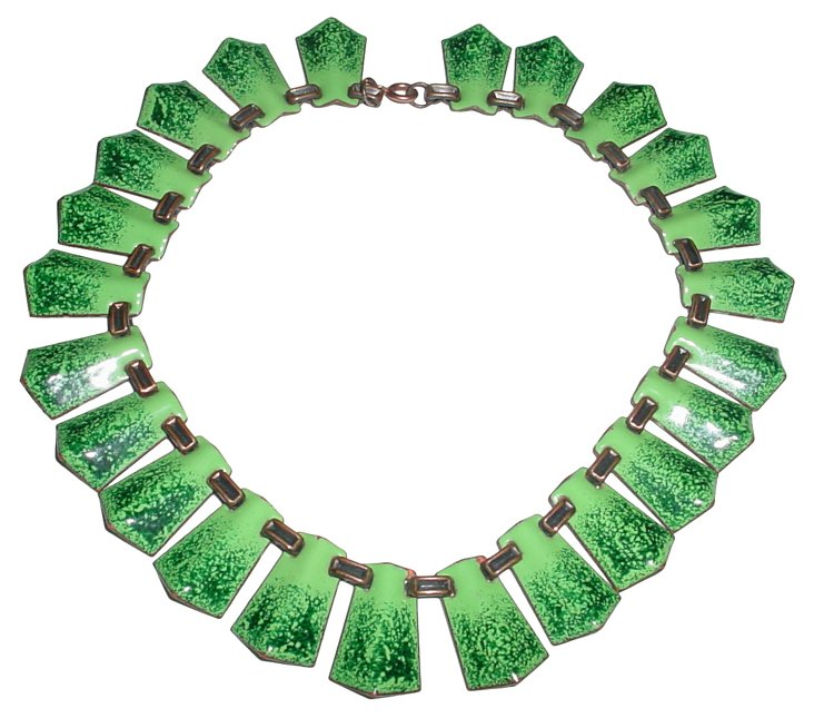 Enamel & Copper Necklace