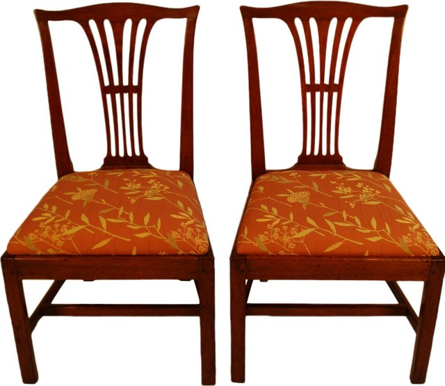19th-C. American Side Chairs, Pair