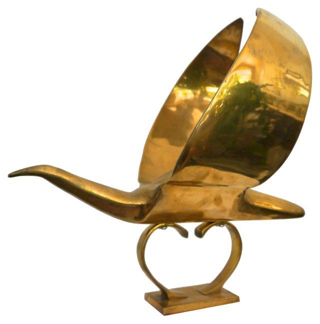 Deco-Style Brass Bird
