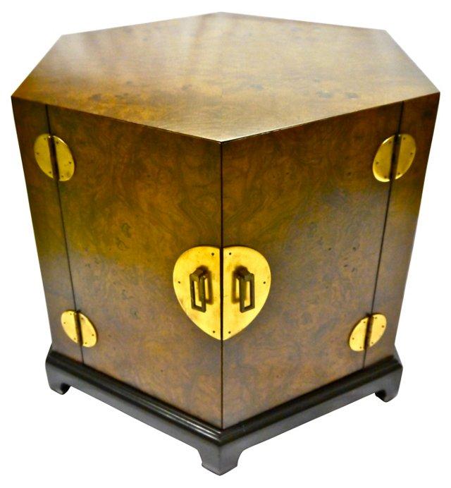 Burlwood Octagonal Ming-Style Table