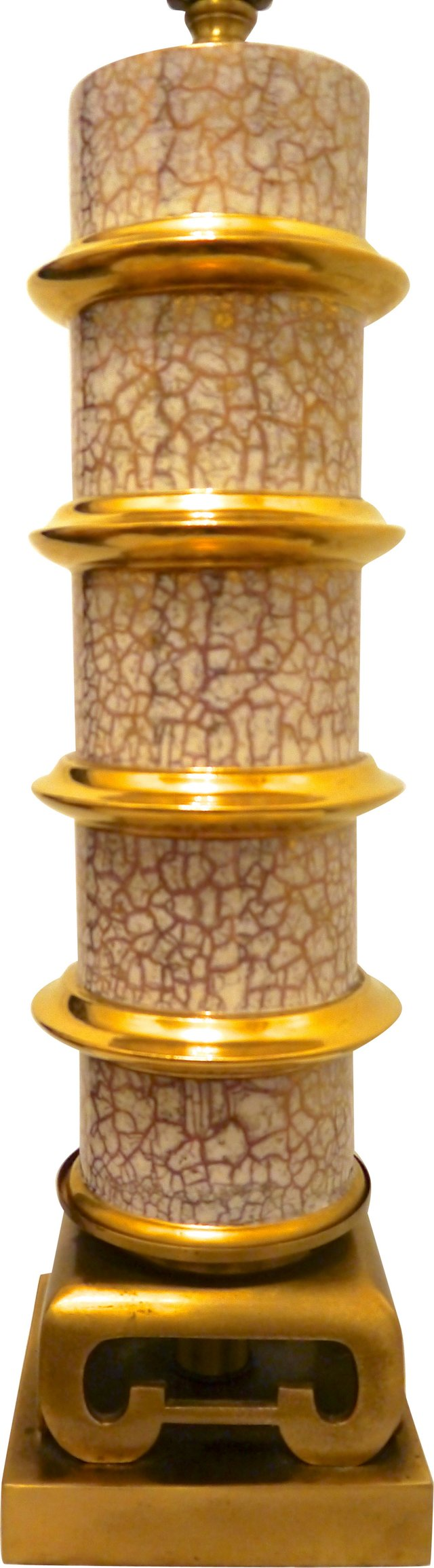 Brass & Gold Pagoda-Style Lamp
