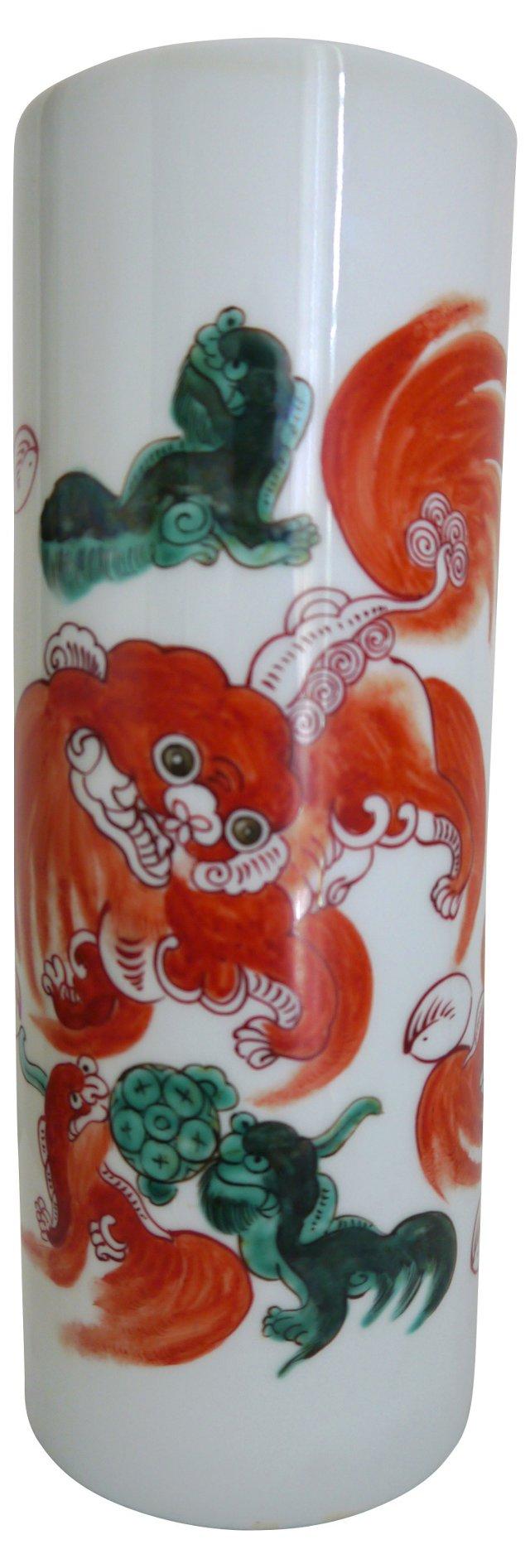 Imari Foo Dog Vase