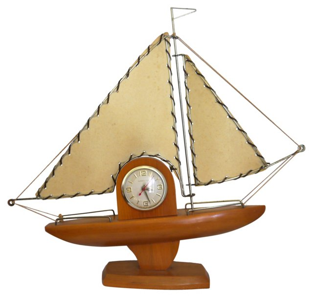 1960s Sailboat Clock