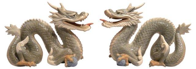 Porcelain Dragons, Pair