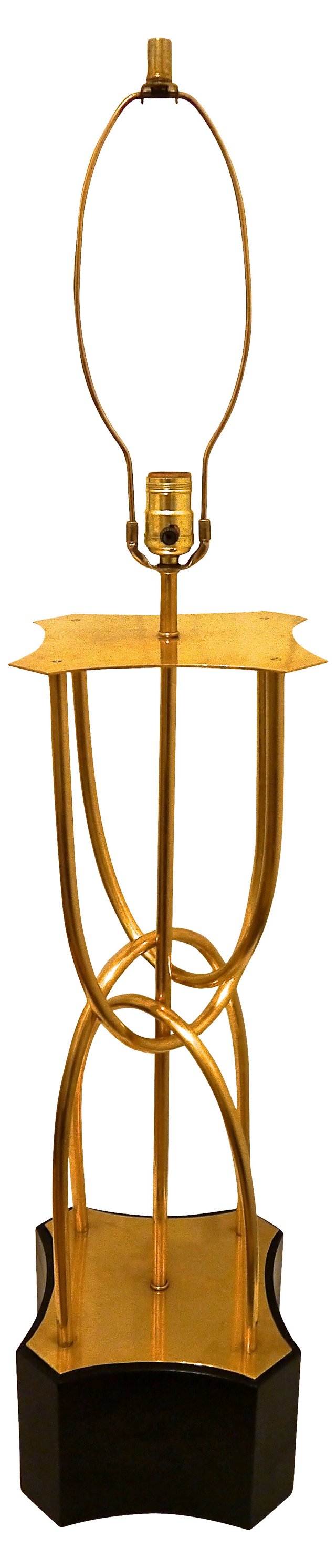 1960s Brass Sculptural Lamp