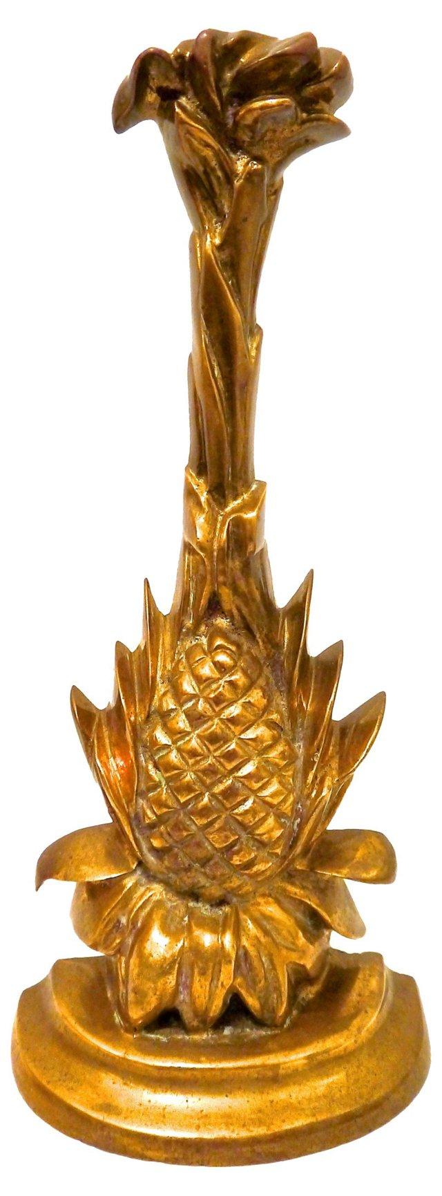 Brass Pineapple Doorstop