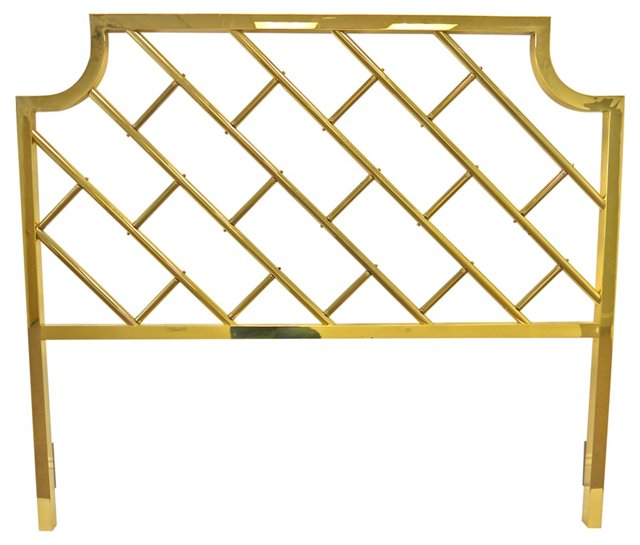 Brass Fretwork Headboard, Queen