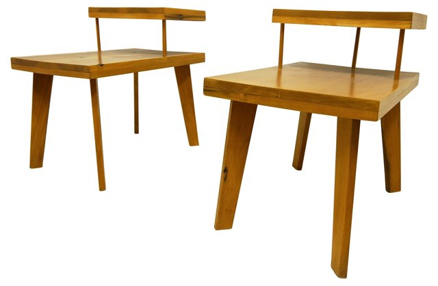 1950s McCobb Style Side Tables, Pair