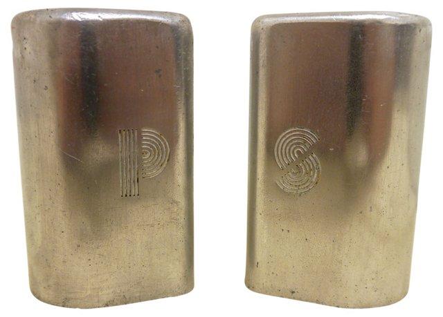 Art Deco Aluminum Salt & Pepper
