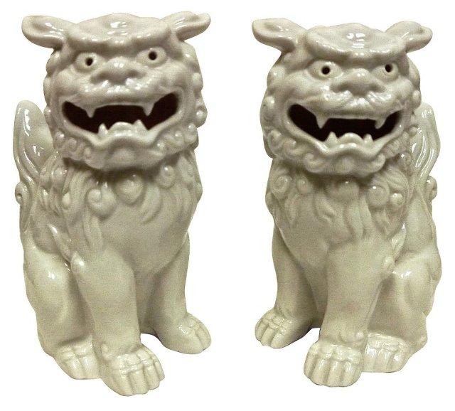 Otagiri Porcelain Foo Dogs, Pair