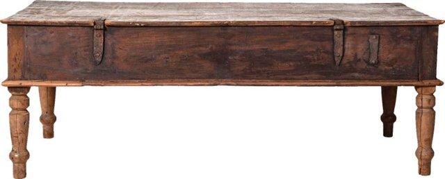 19th-C. Indian Table w/ Storage