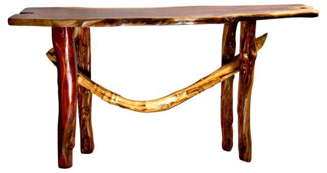 Custom Burlwood Side Table