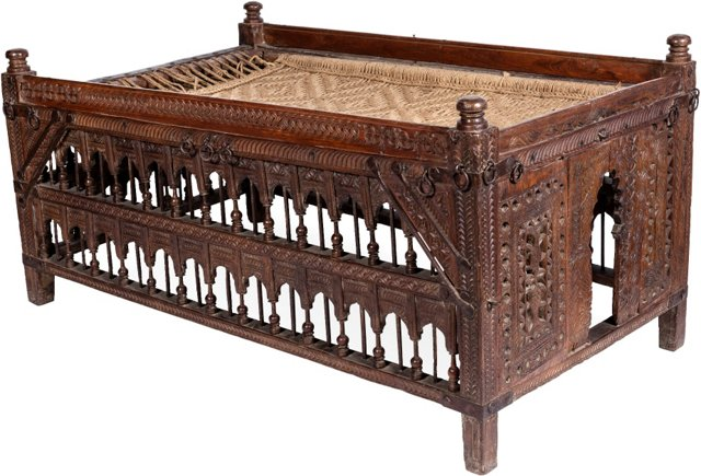 19th-C. Indian Rope Bed