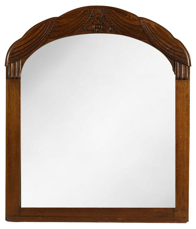 English Oak Mirror