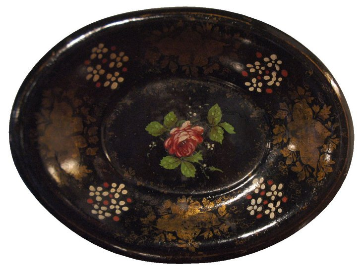 Antique French Tole Dish