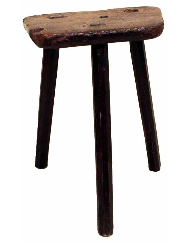 19th-C. Welsh Stool