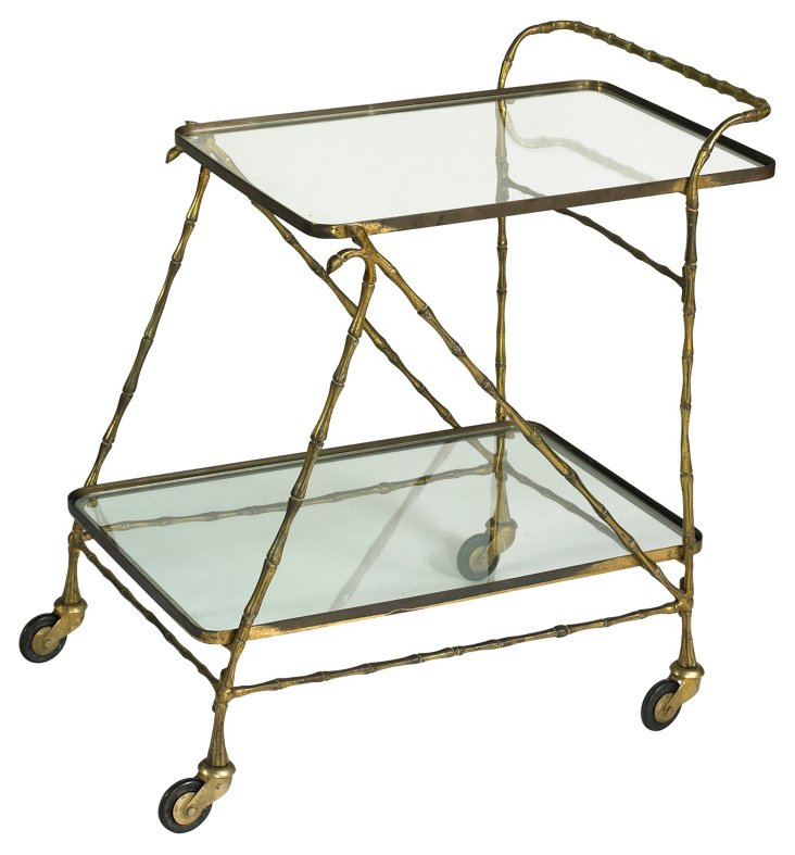 Antique French Tea Trolley