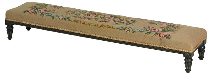 19th-C. English Fireside Bench