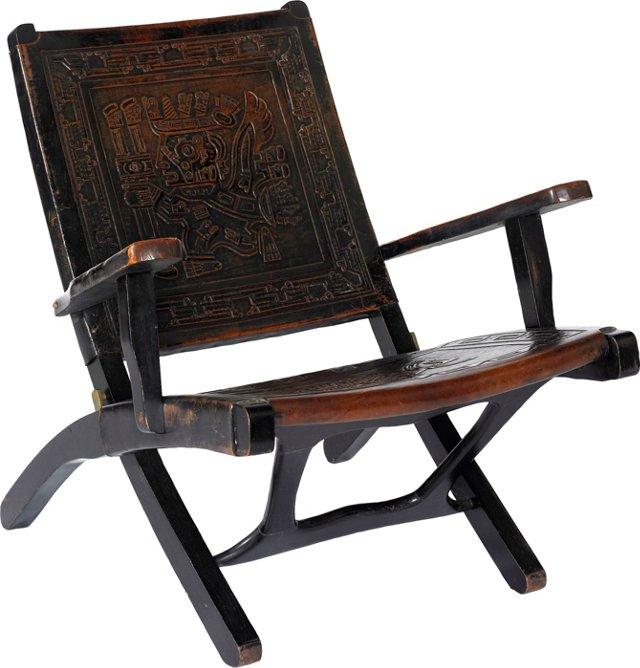 Spanish Chair w/ Aztec Design