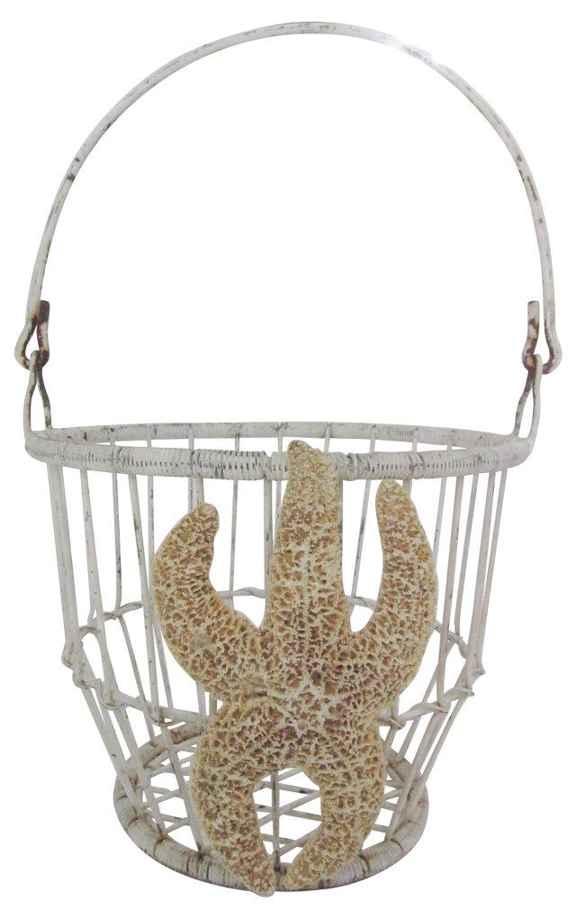 Wire Basket w/ Starfish