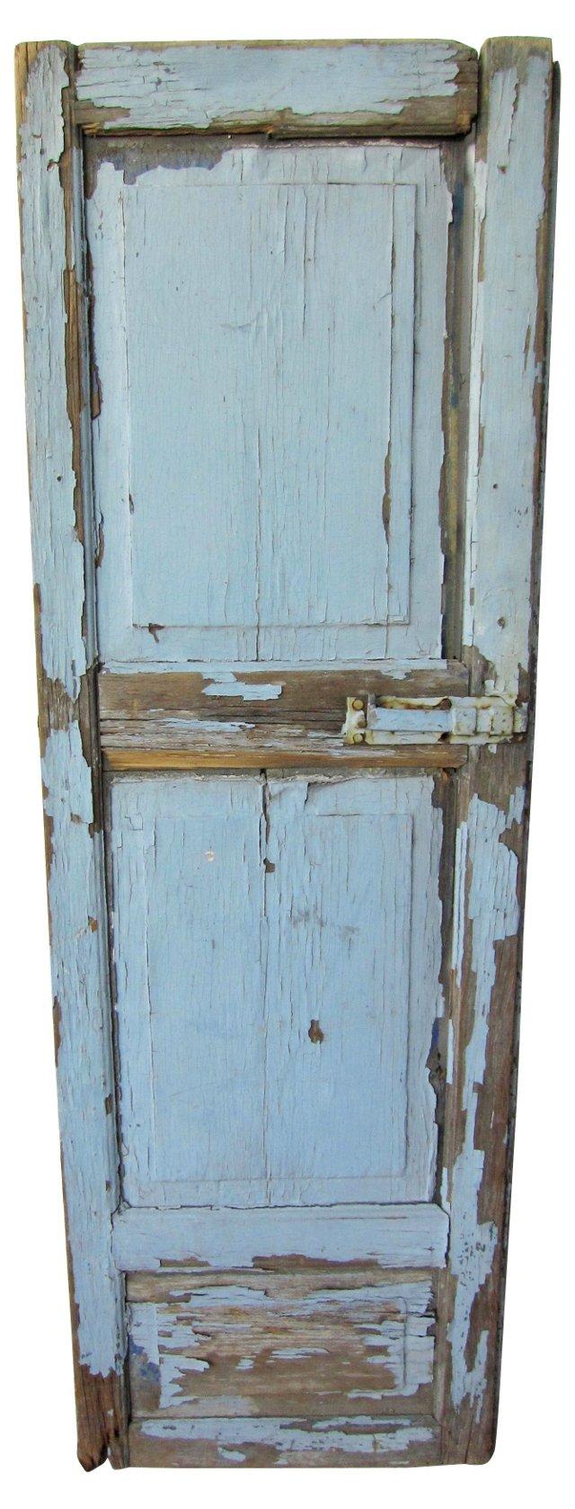 French Blue Window Shutter