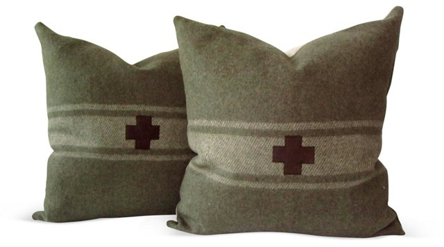 Swiss  Army    Blanket Pillows, Pair