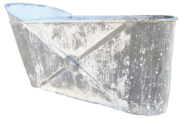 Antique French Zinc Soaking Tub