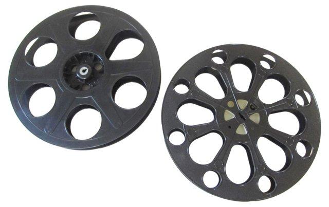 Midcentury Film Reels, Pair
