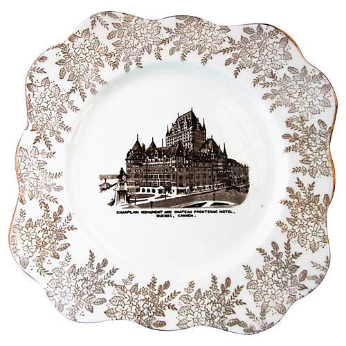 Chateau Frontenac Hotel Souvenir Plate