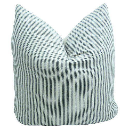Linen Belgian/French Ticking Pillow