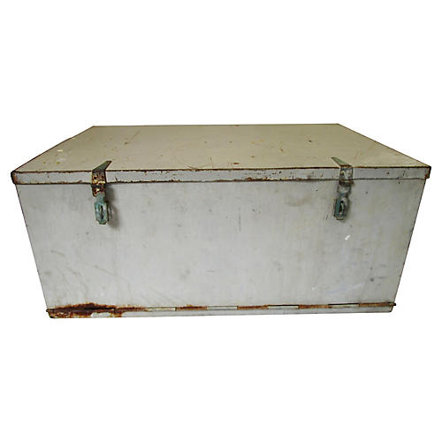 Large Mediterranean Yacht Metal Chest
