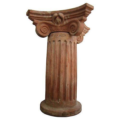 19th-C. Italian Capital Pedestal