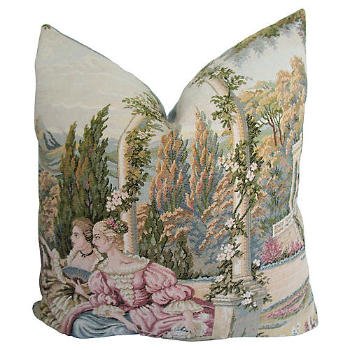 French Countryside Tapestry Pillow