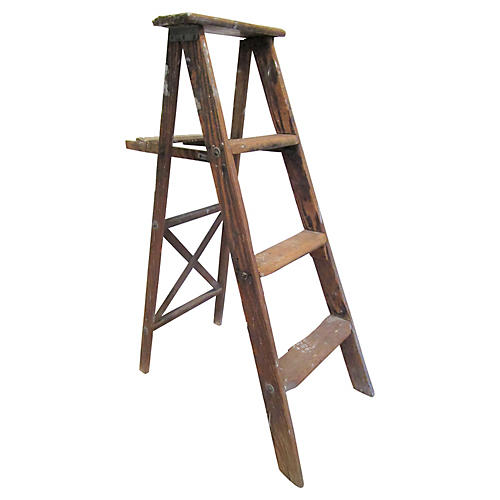 Antique French Painter's Ladder