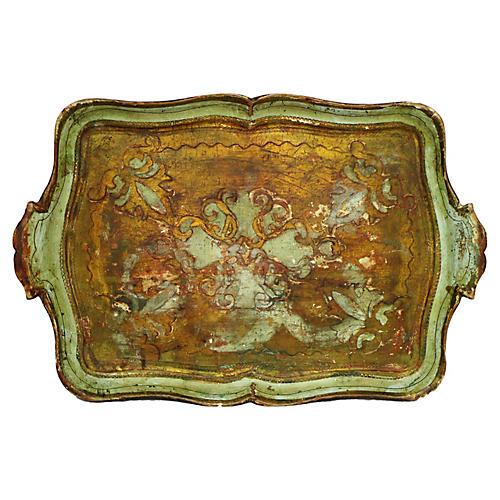 Antique Italian Florentine Tray