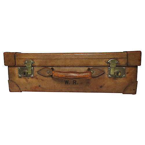 English Leather Pullman Suitcase