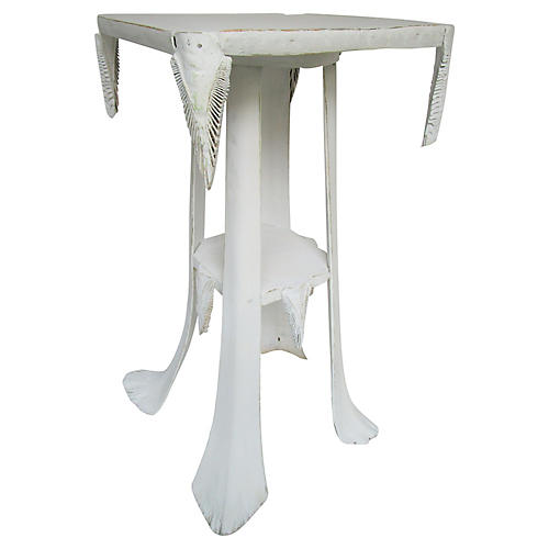 Natural Palm Frond Side Table