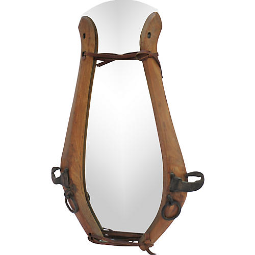 European Antique Equestrian Mirror