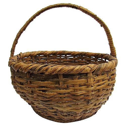 Antique Splint Market Basket