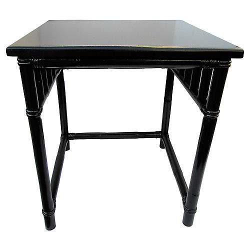 Onyx Bamboo Side Table